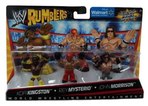 Kofi Kingston Rey Mysterio John Morrison Figuren Set WWE Rumblers