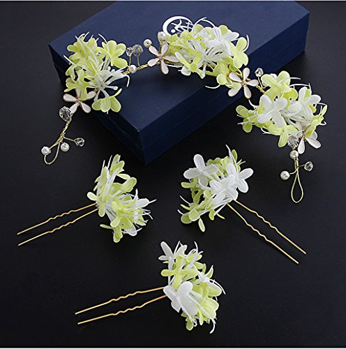 &Corolla Kopfschmuck Koreanische Braut Kopf Blume Sen weibliche Hand Blume Kopfschmuck Brautkleid...