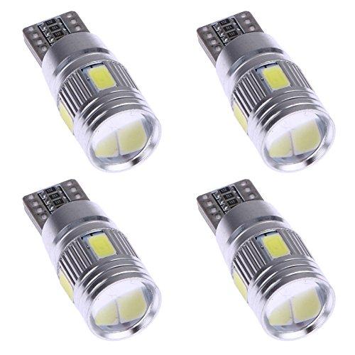 YouN 4 x lumières LED de voiture CANBUS T10 5630, Blanc W5 W de Décodage Show Large lumières