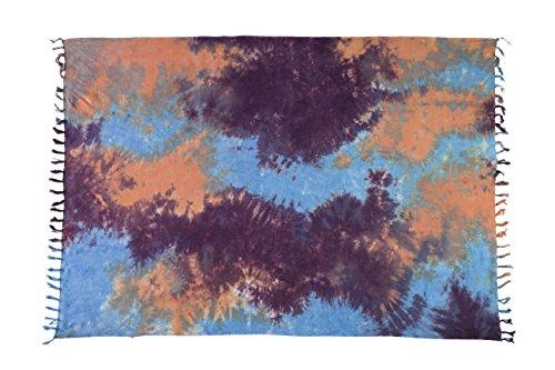 Ca 35 Luxus Batik Pareo Sarong Lunghi Dhoti Handtuch Strandtuch Schal Beach Tücher Ca 170cm x 110cm Original von EL GMBH Bunte Farben