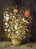 Das Museum Outlet–Blumenstrauß der Blumen in einem Holz Blumentopf–1600–1630–Poster Print Online (A3Poster)