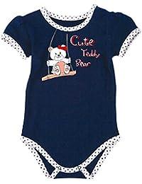 Para Ropa Infantil Niños Body Color Azul Oscuro Con Texto Impreso 0310