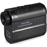 Anself 900m Golf Rangefinder Outdoor Handheld Laser Distance Meter Speed Tester Digital Monocular Telescope Range Finder M/Yard Distance Meter