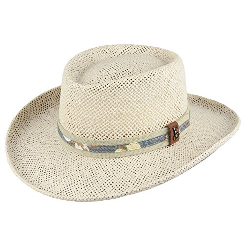 Village Hats Chapeau Gambler de Golf en Paille Scala - Large/X-Large