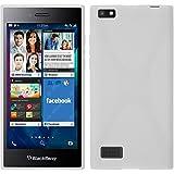 Coque en Silicone pour BlackBerry Leap - X-Style blanc - Cover PhoneNatic Cubierta + films de protection