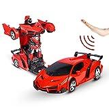 Sylanda Ferngesteuertes Auto Transform Roboter, Wiederaufladbar RC Auto Rennauto mit Fernnedienung Radio Ferngesteuerter High Speed Spielzeugauto Rennfahrzeug für Kinder ab 6