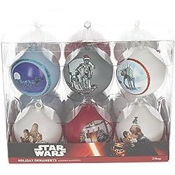 STAR WARS sdtsdt89744–Set palline di Natale, colore: bianco