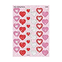 TREND enterprises, Inc. Shimmering Hearts Sparkle Stickers, 72 ct