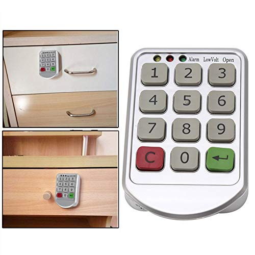 Zunate Electronic Cabinet Lock Kit Set,Elektronisches Tastatur-Schloss digitales Schloss,elektronische Digitale Schlösser Schrank für die öffentliche oder Private Schrank Schrankschloss