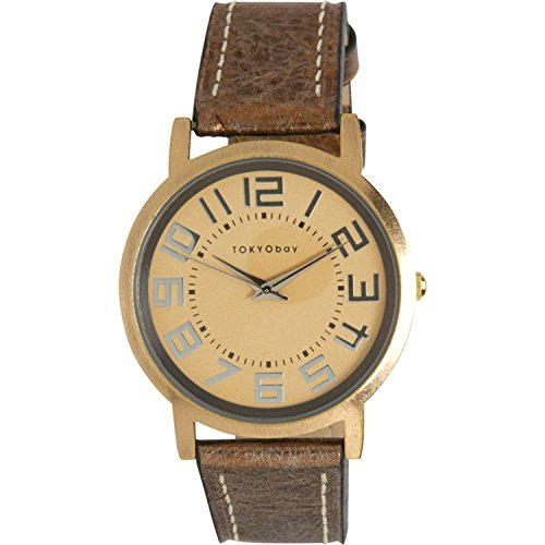 tokyobay-platform-leather-watch-in-metallic-gold