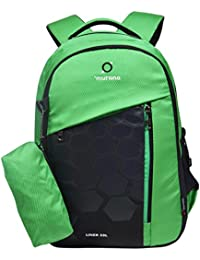 Murano Liner 33 LTR Casual Backpack with 3 Compartment and Polyester Water Resistance Backpack for Men and Women