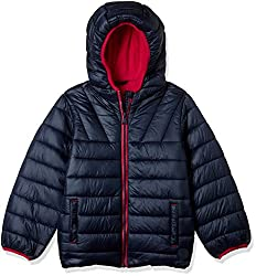 Mothercare Boys Quilted Regular Fit Jacket (MD006-1_Blue_3-4 Y)