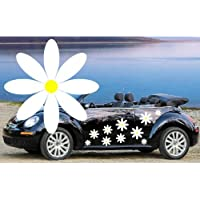 32,WHITE DAISY FLOWER VINYL CAR DECALS,STICKERS,CAR GRAPHICS,DAISIES - ukpricecomparsion.eu