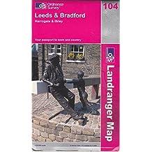 Leeds and Bradford, Harrogate and Ilkley (Landranger Maps)