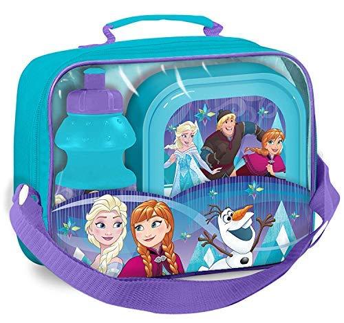 Disney frozen borsa termica con scatola e bevande bottiglia