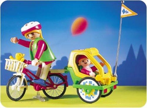 Playmobil 3068 - Fahrrad mit Kinderanhänger und 2 Figuren