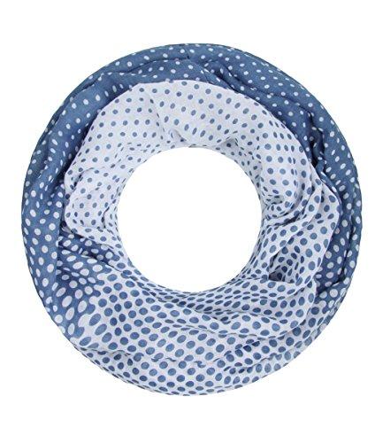 Majea NEUE Saison Damen Loop Schal viele Farben Muster Schlauchschal Halstuch in aktuellen Trendfarben (blau 23)