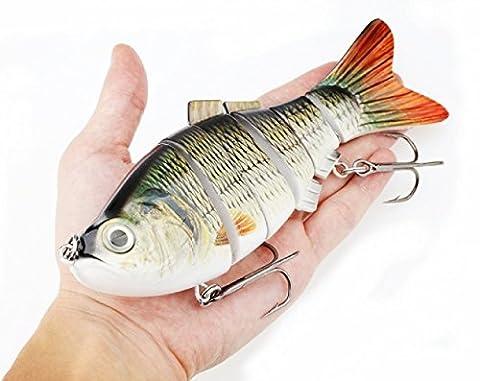 A-szcxtop 20cm 115g Multi jointé Leurres de pêche 6segments Swimbait réaliste dur Bait avec crochet solide énorme Leurre