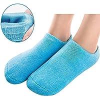 Pinkiou Suavizante Spa Gel Calcetines para la piel agrietada Hidratante Cuidado de los pies Exfoliante Dry Heel Booties Pedicura (Azul)