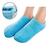 Pinkiou Chaussettes en Gel Doux pour Peau Craquelée Hydratante Soins des Pieds Exfoliantes Chaussures à Pieds Sèches Pédicure (Bleu)