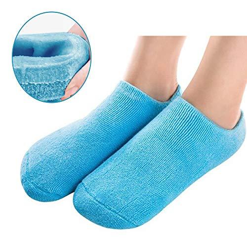 Pinkiou feuchtigkeitsspendende Socken SPA Gel Innen für Rissige Haut Fuß Weichmachen und Whitening (Blau)