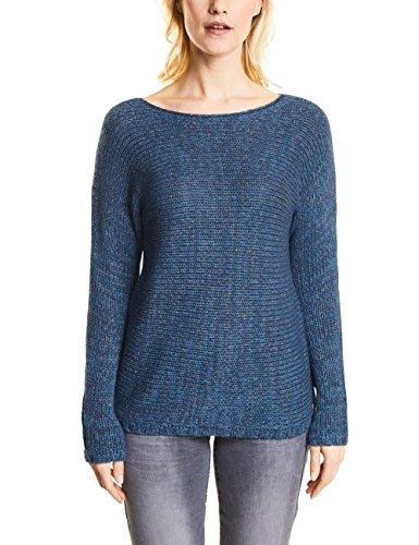 Cecil Damen Pullover 300541, Blau (Indigo Mid Blue 31246), Large