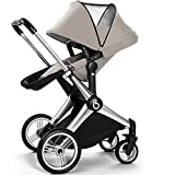 Luxury Folding Baby Jogger/ Baby Stroller/ Baby Carriage, 4 Wheels Pushchair, Bidirectional, SUV Suspension, Can Sit & Lie (BEIGE) immagine