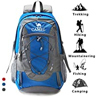 CAMEL Wandern Rucksack leichte Reise Packable langlebig wasserdicht Sport Daypack, für Camping Angeln Reise Radfahren Skifahren Blau