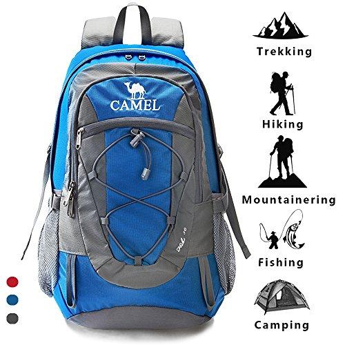 Camel Mochilas de Escalada Packable liviano Durable Mochila Deportiva a Prueba de Agua, para Acampar, Pescar, Viajar, Andar en Bicicleta, Esquiar