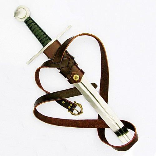 Schwertgehänge nach Vorbildern aus der Wikinger-Zeit und dem Hoch-Mittelalter Farbe braun