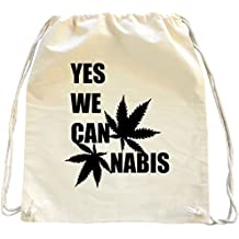 Mister Merchandise Mochila Bolso Saco Yes we Cannabis Can bolsa de la compra
