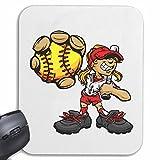 Mousepad (Mauspad) BASEBALL BASEBALLSCHLÄGER BASEBALLSPIELER BASEBALLCAP BASEBALLSCHUHE BASEBALL BASEBALLSCHLÄGER BASEBALLSPIELER BASEBALLSHIRT BASEBALL TEAM für ihren Laptop, Notebook oder