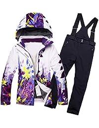 Keamallltd Fleeced Girls Traje de esquí Chaqueta de esquí Impermeable para niños  Pantalones de esquí Chicos térmicos Invierno Esquí… cceb7874c32