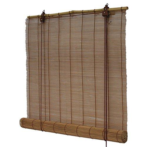 Flairdeco 3704220-09018 Bambusrollo, 90 x 220 cm, braun