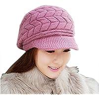 Leisial Sombreros de Punto para Esquí Gorro de Punto Primavera e Invierno  para Mujeres Talla Única 4af2e219d31