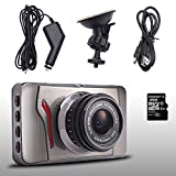 MICTUNING 3.0''Pollici HD 1080P DVR Telecamera per Auto Videoregistratore Dash Cam Sicurezza Angolo Visuale 120 Gradi G Sensore Rilevatore di Movimento Scheda SD 8GB