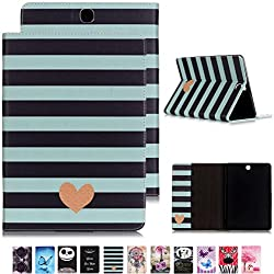 Romantronic Galaxy Tab E 9.6 Etui Housse Slim Smart Cover Case de Protection pour Samsung Galaxy Tab E 9.6 Pouces T560 T561 Tablette Coque avec Support Pochette Stand Fin et Pliable, Y06