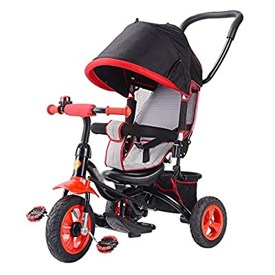 LYDB Trikes for Toddlers,Kids' Tricycles Bicycle Children Baby Bike Infant Trolley 1-3-5 Years Old -with Panoramic Sunroof (Color : Purple)