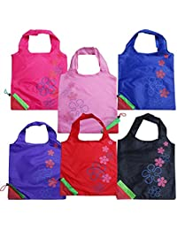 Beautiful Strawberry Eco-Friendly Nylon-Folding Shopping Bag - Set Of 3 Assorted Bags