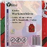 Yline 1 Stück Kinderschürze Rot Werken, Kinder Bastelschürze Werkschürze Gartenschürze, Schürze, 3071