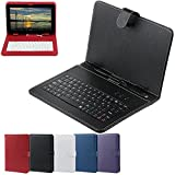 PADGENE Tablets keyboard Case Ultra-Slim PU leather Stand Universal Tablet PC Leather Case with Keyboard for M8 M9 M10 T7S S10 S11 P6 P7 P8 P9