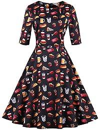 686853c37a 3 4 Vestido De Brazo para Mujer Vestido Mode De Marca De Dama De Rockabilly  Vestido