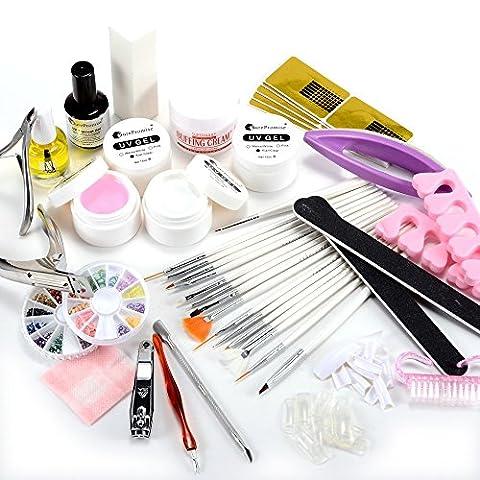TOOGOO(R) DIY Kit de mancure au gel UV topcoat pour ongle nail art cuticule pedicure