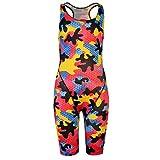 Maru Kinder Maedchen Badeanzug Mit Beinen Buntes Muster Camouflage 11-12 (LG)
