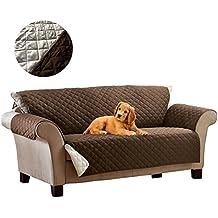 015571 Funda sofá de 2 plazas reversible con apoyabrazos - 140 X ...
