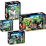 PLAYMOBIL® Ghostbusters Set: 9221 Stay Puft + 9222 Slimer with Hot-Dog-Stand + 9223 Venkman & Terror-Dogs + 9224 Spengler & Ghost