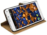 mumbi Ledertasche im Bookstyle für Samsung Galaxy Note 4 Tasche weiss