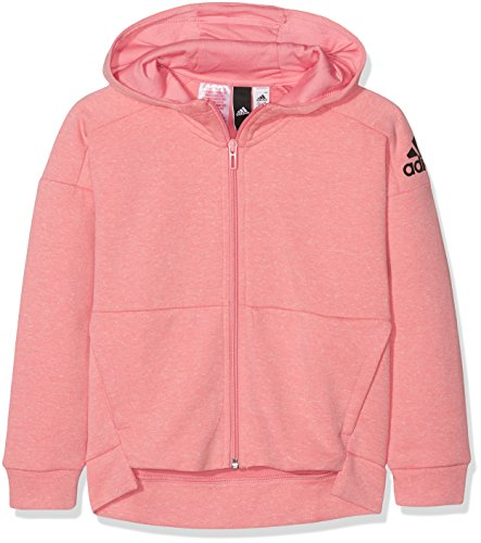 adidas Mädchen Id Stadium Kapuzenjacke Jacke, Tacros/Icepnk/Black, 152 - Mädchen Kapuzenjacke Jacke