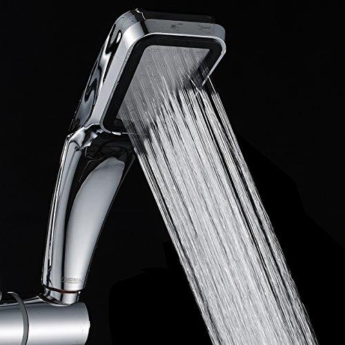 Deen cabezal portátil de ducha, 30% de ahorro de agua, 300% de presión del turbocompresor.