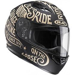 HJC Casque Moto CS 15 Rebel MC9F, Noir/Or, Taille L